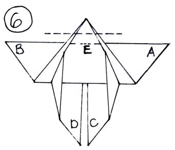 An illustration showing what will be the head of the butterfly.