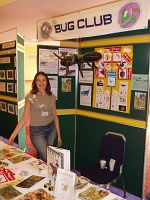 A photograph of the Bug Club stand at the 2004 Annual Exhibition and Trade Fair