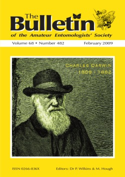 The cover of the February 2009 AES Bulletin showing a picture of Charles Darwin