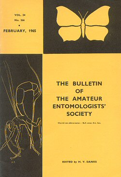 The cover of the February 1965 Bulletin of the Amateur Entomologists' Society