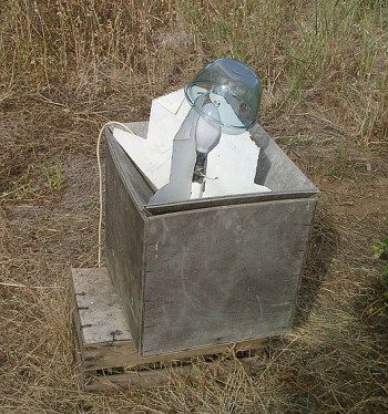 A photograph of a moth trap.