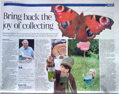 A clipping from the Sunday Telegraph 28th March 2010